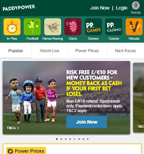 Paddy power mobile app download