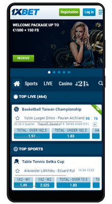 1xbet android betting line