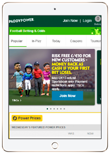 paddy power mobile site