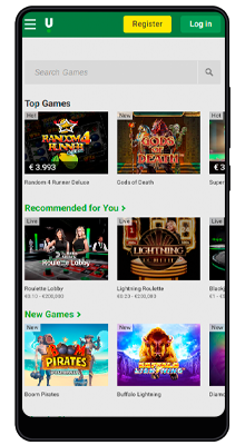 casino in unibet mobile application for android