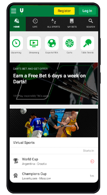 sports betting line in unibet android mobile app