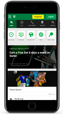 sports betting line in unibet app on ios