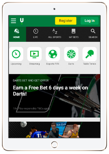 mobile version of the unibet site